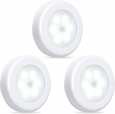 Century Motion Sensor LED Night Light Cordless Battery-Powered 3 Pack Indoor Use