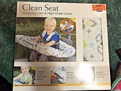 Eddie Bauer Baby Clean Seat Shopping Cart & High Chair Cover Green's & Blue NEW