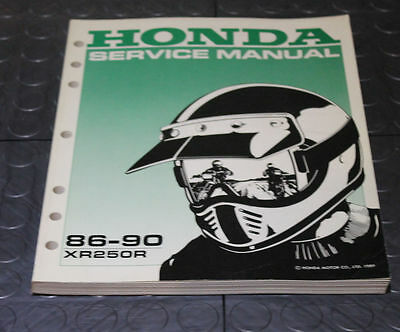NOS OEM Honda Service Shop Manual NEW 86-90 XR250R XR 250 R