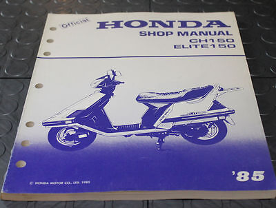 NOS OEM Honda Service Shop Manual NEW 85 CH150 ELITE150 CH 150 ELITE 150