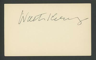 J. WALTER KENNEDY signed 3x5 index card (NBA HOF Commissioner - AUTOGRAPH)