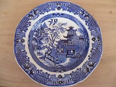 Vintage Old English Burleigh Ware Plate, Dish Blue Willow (G83)