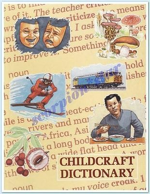 Childcraft Book : Dictionary : 1989 : Hard Covers : Vgc