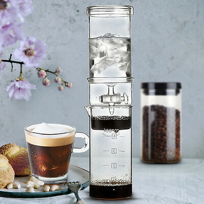 5Cup Dutch Coffee Cold Water Glass Drip Ice Maker Brew Machine 400ml Home Office