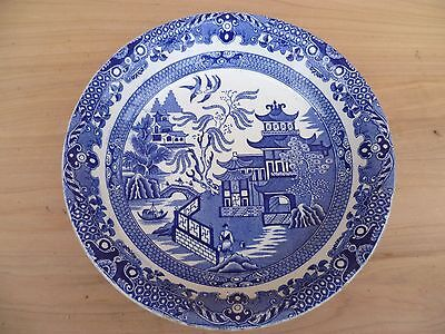 Vintage Old Blue Willow China Burleigh Ware Plate, (G85)