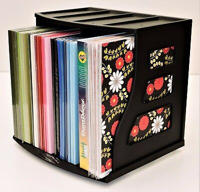 12x12 Paper Storage Cardstock Organizer Magazine Holder Display Stand Rack Crate