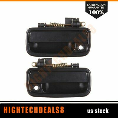2Pcs Front Outside Right & Left Side Door Handles Black For 95-04 Toyota Tacoma