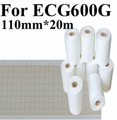 Record print paper for printer,CONTEC ECG/EKG 600G machine,110mm*20m,thermal