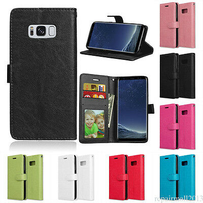For Samsung S6 S7 S8/S8+ Magnetic Card slot PU Leather Flip Wallet Case Cover YL