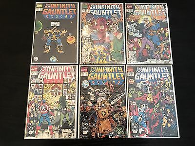 The Infinity Gauntlet Complete Lot Set 1, 2, 3, 4, 5, 6 All NM!  First Print
