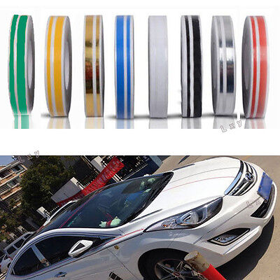 12mm Striping Pin Stripe Steamline Double Line Tape Body CAR Decal Vinyl Sticker
