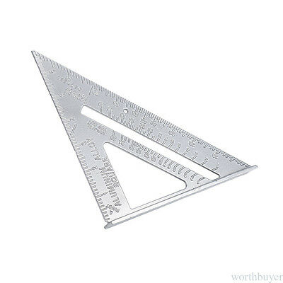 "Roofing Rafter Triangle Ruler Guide7""Aluminum Alloy Speed Square Wholesale AD3"