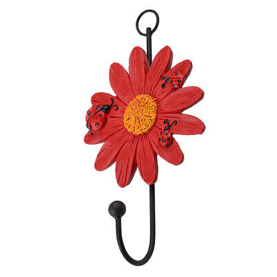 Heavy Duty Daisy Flower Wall Hook Door Hanger Hat/Key/Coat/Towel, Bath/Kitchen
