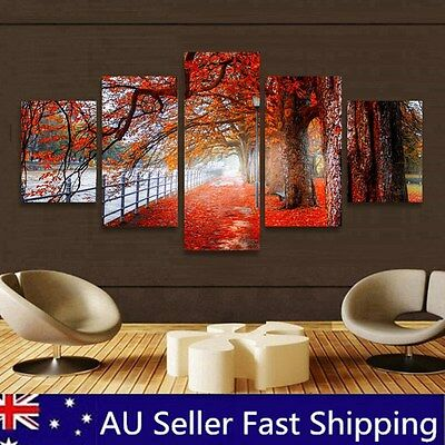 Tree Maple Abstract Oil Painting Wall Home Decorative Canvas Print No Frame AU