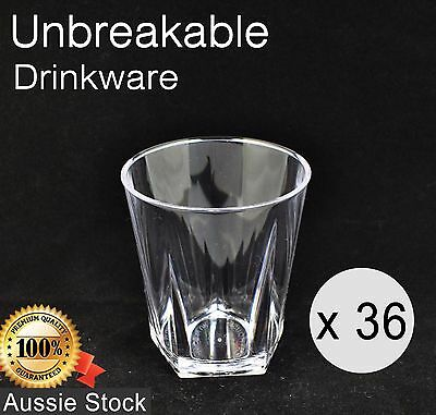 36 x Polycarbonate 9oz Rocks Glass 265ml - Premium Quality Unbreakable 096-1CL