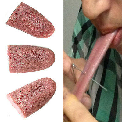 False Fake Tongue Gross Jokes Prank Magic Tricks Halloween Magician Prop 2x
