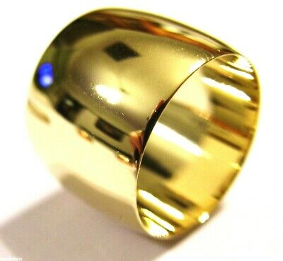 Kaedesigns New 9Ct Yellow Gold Full Solid 16Mm Wide Band Ring Size M