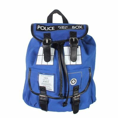 Doctor Who Outdoor Fashion TARDIS Buckle Slouch Rucksack Backpack School Bag