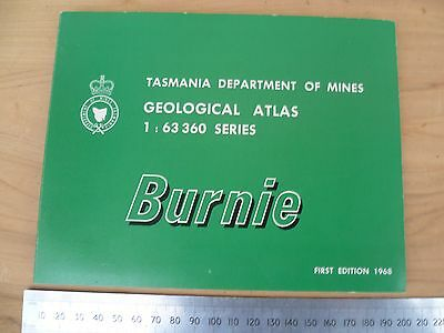 Department Of Mines Burnie Survay Map, Old Map Tasmania (G157)