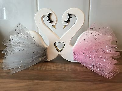 Nursery Decor Freestanding Love Swans Made To Order