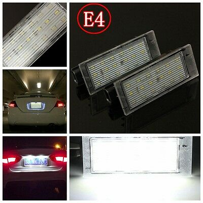 2x Canbus LED Licence Number Plate Light For Renault Megane Laguna Clio Twingo