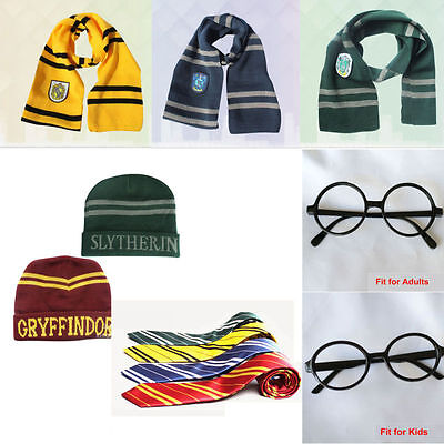 Harry Potter Cravatta Sciarpa Cappello Grifondoro Serpeverde DO