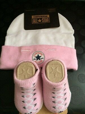 Infant Hat & Booties CONVERSE Girls 0-6 Months