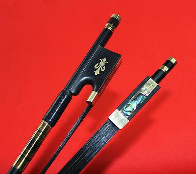 New black Carbon fiber violin bow 4/4 professional bow black hair Very Nice