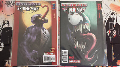 Lot of 2 Ultimate Spider-man Venom Covers: Issues 33+35