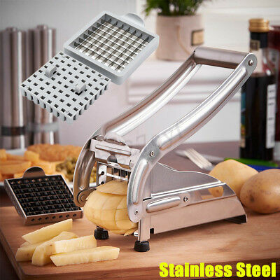 Manual Stainless Steel French Fry Potato Veg Cutter Maker Slicer Chopper Dicer