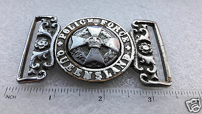 Obsolete Queensland Australia Police Force Buckle