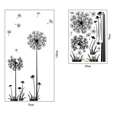 Dandelion Flowers Wall Stickers Mural Decals Art Home Living Room Wall Decor