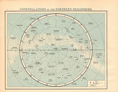1893 Antique Map - Constellations Of The Northern Hemisphere