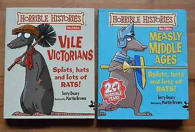 Horrible Histories 2 book bundle - used, good condition.