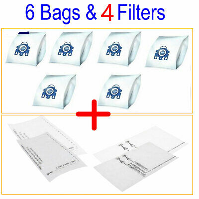 6 Bags + 2 Filter Fits Miele GN Vacuum Cleaner Hyclean 3D Type Cat n dog Blue