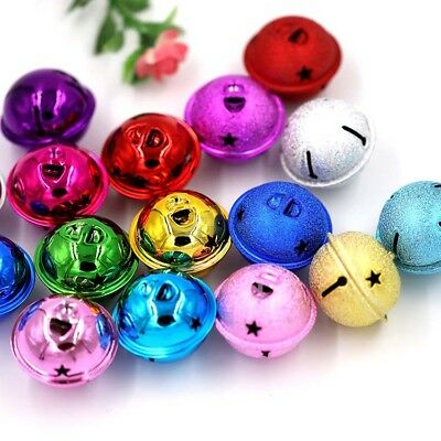 10pcs 40mm Craft Jingle Bells Cloth Pendant Accessories DIY Christmas Decoration