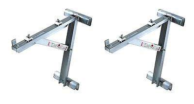 "New - Werner 20"" AC10-20-02 Two Rung Long Body Aluminum Ladder Jacks (set)"