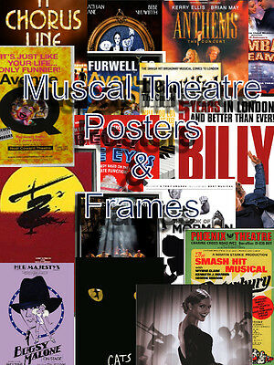 """A-B Musical Theatre Posters From A4 to 31cmx50cm, Frames Available-""""FREE UK P&P"""""""