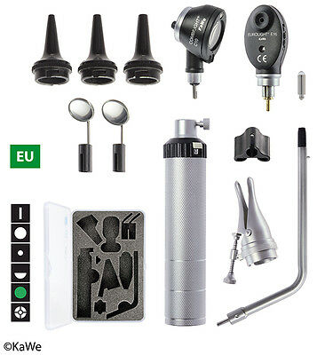 KaWe Basic Set C10/E16 with Otoscope and Ophthalmoscope and Battery handle