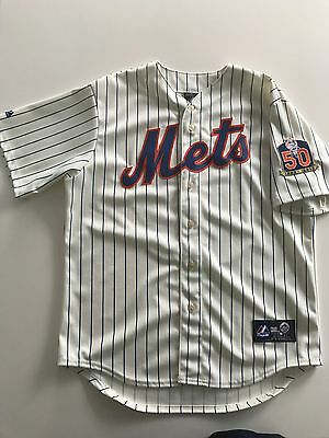 MLB Majestic commemorative New York Mets Johan Santana baseball jersey BNWOT