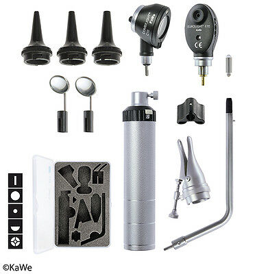 KaWe Basic Set C10/E15 with Otoscope and Ophthalmoscope and Battery handle