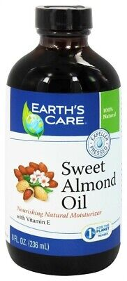 Earth's Care 100 Percent Pure Sweet Almond Oil - 8 Fluid Ounce
