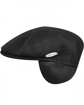 KANGOL WOOL 504 EARLAP BLACK *Brand-new with the original tags*