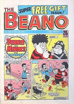 BEANO - 10th OCTOBER 1987 (8th - 14th Oct) RARE 30th BIRTHDAY GIFT !! VG+ beezer