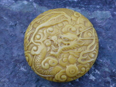 Japanese Meiji Period - *Signed* Celluloid Menju Netsuke Dragon Design
