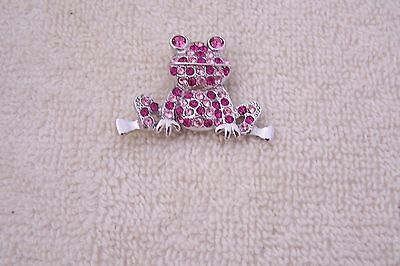 Pave Frog Pin Finished with All Swarovski Crystals - Multi Colored - Pinks