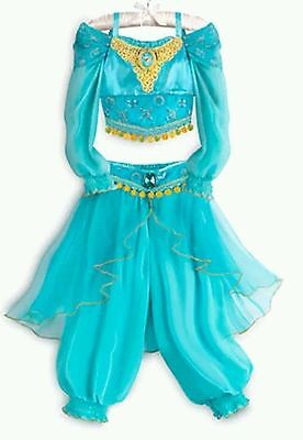 NWT Authentic Disney Store Princess Jasmine Aladdin 2 Pc Costume Size 3