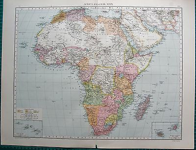 1893 Antique Map - Africa, General Map