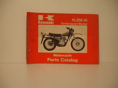 KAWASAKI KL250  1977  parts list catalogue piece detachees