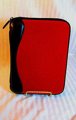 Rare - Red Franklin Covey Performance Sport Classic Size Planner Organizer Tuff